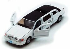1999 Lincoln Town Car New York Stretch Limousine Taxi 1:38 diecast White