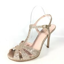 Kate spade new york bridal or wedding shoes for women ebay kate spade feodora womens size 10 m gold fine glitter heel dress sandals junglespirit Image collections
