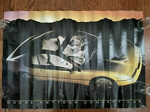 Early 1980s DODGE DAYTONA CONCEPT CAR Poster Dealer Promo Rare Chrysler Mopar