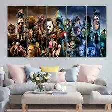 Horror Movie Characters Framed 5 Piece Canvas Wall Art Painting Wallpaper Poster