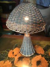 Antique Victorian Wicker Lamp -Arts & Crafts