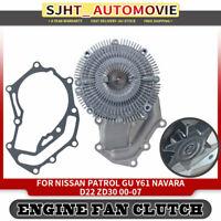 Water Pump & Fan Clutch for Nissan Patrol GU Y61 Navara D22 ZD30 3.0TD 2000-2007