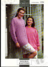Vintage Knitting Pattern, Chevy, Ladies Sweater, 30-42in 1354