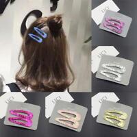 2pcs Snap Hair Clip Glitter Sequin Hairpin Women Girls Barrette Hair Access Top