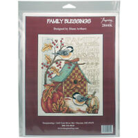 """Imaginating Counted Cross Stitch Kit 8""""X10""""-Family Blessing (14 Count), I2844"""