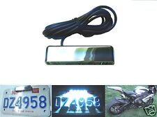 5 LED Chrome Motorcycle Plate Tag Light License Number Rear Euro Sport Bike RSV