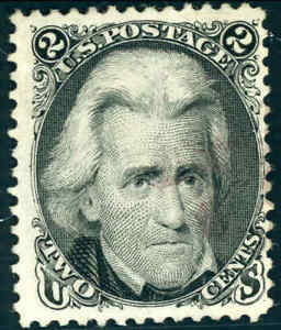 1875 United States 2¢ Postage Stamp #103 Used Reissue Light Cancel Bright Color