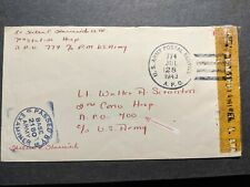 APO 774 ORAN, ALGERIA 1943 Censored WWII Army Cover 7th HOSPITAL Officer's Mail