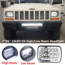 "7""X6'' 15LED HID Bulb Light H4 Clear Sealed High/Low Beam Headlamp Car Headlight"