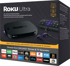 Roku Ultra 4K UHD Streaming Media Player w/HDR Enhanced Remote with Voice search