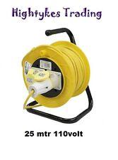 110V 16A 25Mtr Bobina cavo di estensione Piombo sito industriale professionale 2 Vie Gang