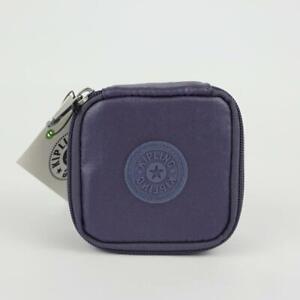 KIPLING JOYFUL Nylon Travel Jewelry Case Pouch Enchanted Purple Metallic