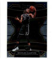 2019-20 Panini Select Basketball Concourse Rookie RC #59 Nicolas Claxton Nets -