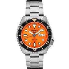 Seiko 5 Men's 24-Jewel Stainless Automatic Watch - Orange #SRPD59