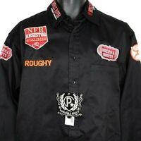 NFR Rodeo Qualifier Shirt Roughy Bullfighter Bullfighting Cowboy Orange Medium