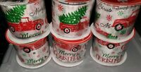 "Lot of 6 Rolls LITTLE RED TRUCK Wired Holiday Christmas Ribbon 2.5"" x 18 Yards"