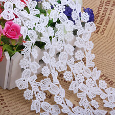 2 Yards Vintage Lace Trim Ribbon For Wedding Bridal Dress Embroidered DIY Sewing