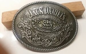 Jack Daniels antique silver color Old No.7 Belt Buckle Western Cowboy 4 X 3""