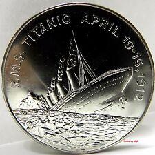 1998 R.M.S Titanic Sinking! 5 Dollars Crown Coin UNC Somaliland