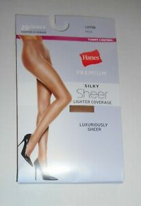 Hanes Silky Sheer Panty Hose L Nude Nylons Pantyhose