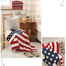 The Stars US flag Pattern Blankets Sofa Bed Fleece Throw Blanket Captain America