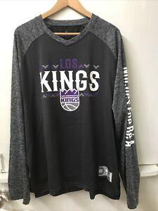 Sacramento Kings Fanatics Long Sleeve Shirt Men's Gray Poly Los noches ena be' a