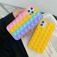 New Pop It Phone Case Cover Fidget Toys for iPhone 12 11 Pro XR XS Max 7 8 Plus