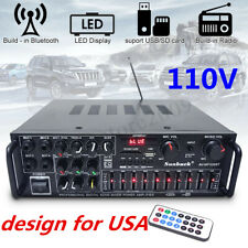 110V 2 Channel 2000 Watts Pro bluetooth Power Amplifier Amp Stereo Audio Usb