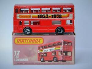 MATCHBOX SUPERFAST #17 LONDONER DOUBLE DECKER DAIMLER BUS 1953-78 MIB 1978