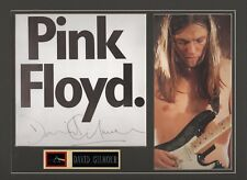 David Gilmour. Authentic autograph. Signature presentation. Pink Floyd. The Wall