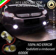 COPPIA LAMPADE FENDINEBBIA H11 LED CREE COB CANBUS HONDA INSIGHT 6000K