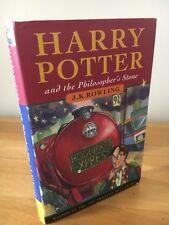 HARRY POTTER PHILOSOPHERS STONE BLOOMSBURY 1ST EDITION 5TH PRINT HARDBACK