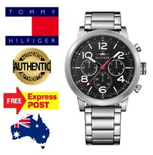 Tommy Hilfiger 1791234 Mens 46mm Black Chronograph watch New With Tags