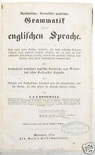 Grammatik der englischen Sprache - Rothwell - 1854