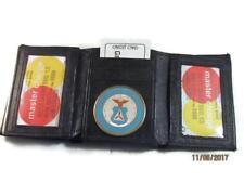 BLACK LEATHER TRI FOLD WALLET 2 ID 17 CARD WALLET CAP CIVIL AIR PATROL NEW