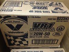Valvoline 211 VR1 20w50 Conventional Racing Oil - High Zinc - Case of 6 Quarts