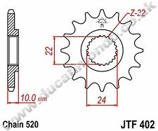 JT steel 17 tooth front sprocket for BMW G650 GS 11-13 JTF402.17 520 pitch