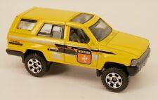 Matchbox 1985 Toyota 4Runner SUV (1984-1989 Body Style) Yellow 1/64 Scale