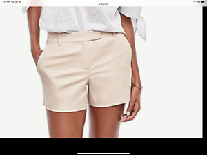 NWT Ann Taylor khaki  City Shorts Size 16