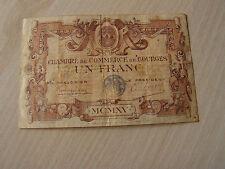 billet   1 francs  chambre de commerce  de bourges