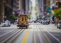 A1 Cable Car California City Wall Poster Art Print 60 x 90cm 180gsm Gift #13153