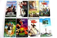 Lot 8 Clamshell VHS Tapes Love Bug Antz Babe 102 Dalmations Sinbad