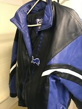 Detroit Lions Leather Jacket 2XL Pro Player