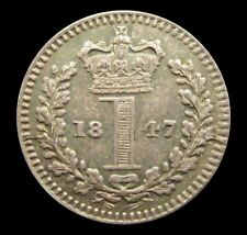 More details for victoria 1847 silver maundy penny - gef