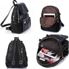 UK Women Leather Backpack School Rucksack College Shoulder Satchel Travel Bag