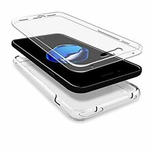 For iPhone 7 Plus Case Silicone 360 Shockproof Cover Screen Protector Clear Gel