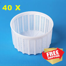 Set of 40 Italian Basket Mold to make all types of cheese 1.2L Goat Cow Rennet