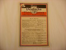 Original Victor Phonograph Record Catalog - German May, 1917