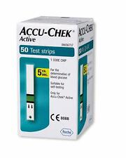 ACCU CHEK Active Test Strips Blood Medical 50 Sheets Diabetic Check Expire 2021