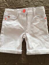 Girls Matalan White Denim Shorts, Age 3 Years